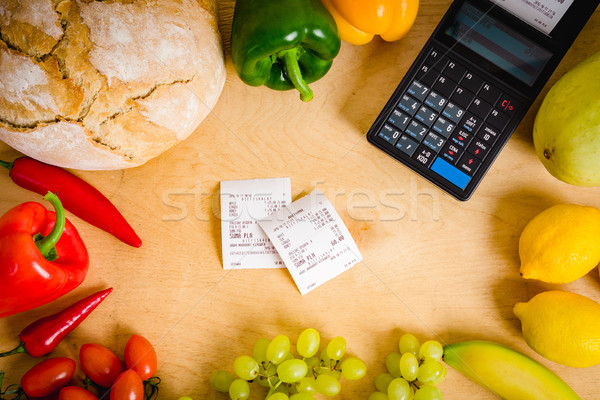 cash register and the bill on the table Stock photo © superelaks