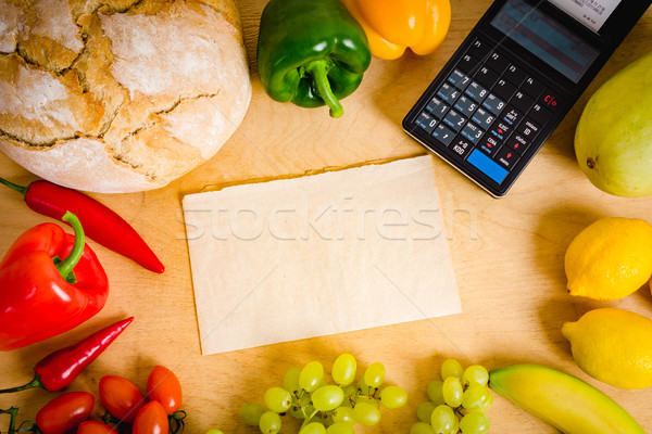 cash register and paper on the table Stock photo © superelaks