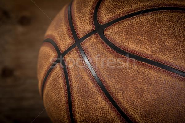 Basketbol top oyun alanı deri soyut sokak Stok fotoğraf © superelaks