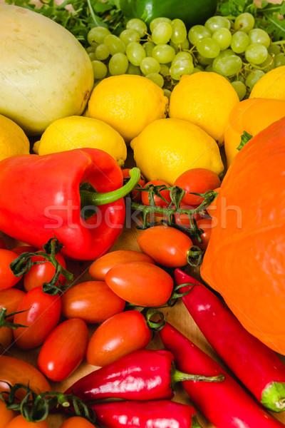 Taze renkli sebze taze sebze tablo gıda Stok fotoğraf © superelaks