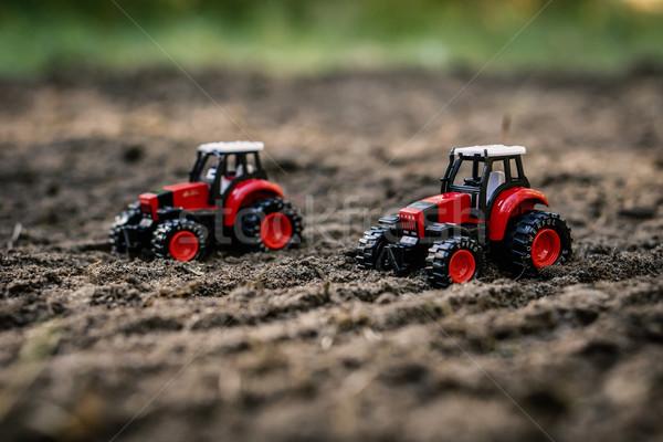 おもちゃ フィールド 小 赤 作業 地球 ストックフォト © superelaks