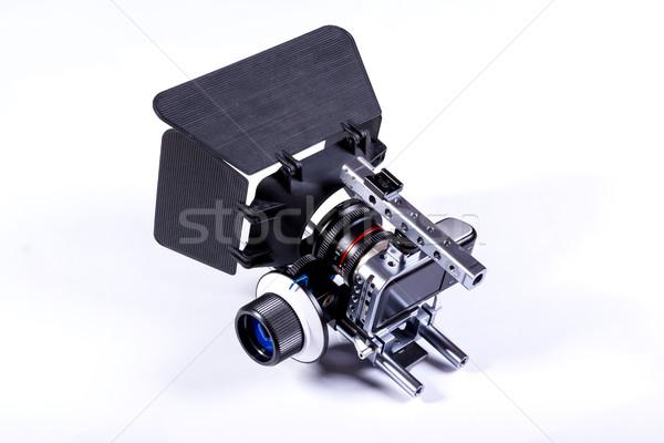 Film kamera beyaz küçük teknoloji Metal Stok fotoğraf © superelaks