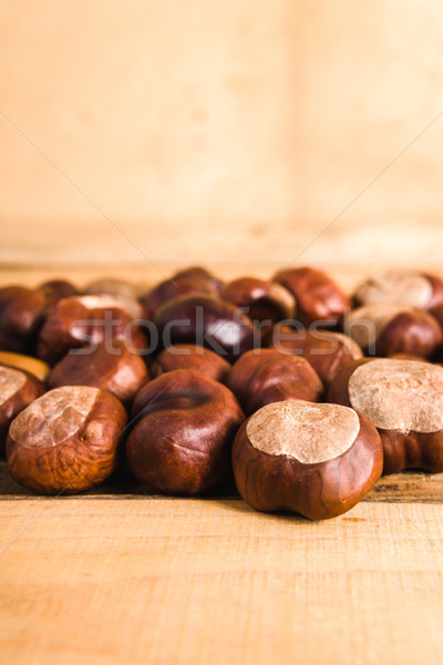 ősz fa asztal barna öreg fa fa Stock fotó © superelaks
