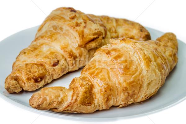 круассаны два свежие круассан блюдо цвета Сток-фото © supersaiyan3