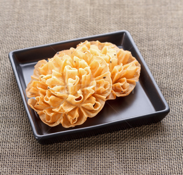 Crispy Lotus Blossom Cookie - Thai dessert Stock photo © supersaiyan3