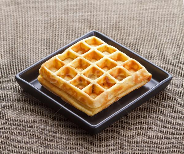 Sweet traditional Belgian waffles Stock photo © supersaiyan3