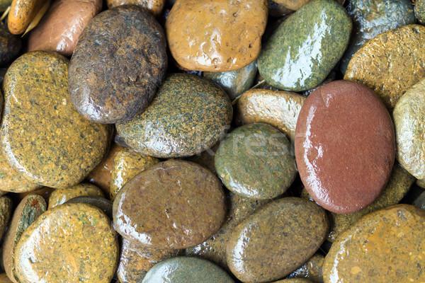 Nat gekleurd stenen rivier water textuur Stockfoto © supersaiyan3