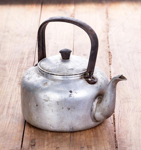 грязные классический алюминий чайник старые Сток-фото © supersaiyan3