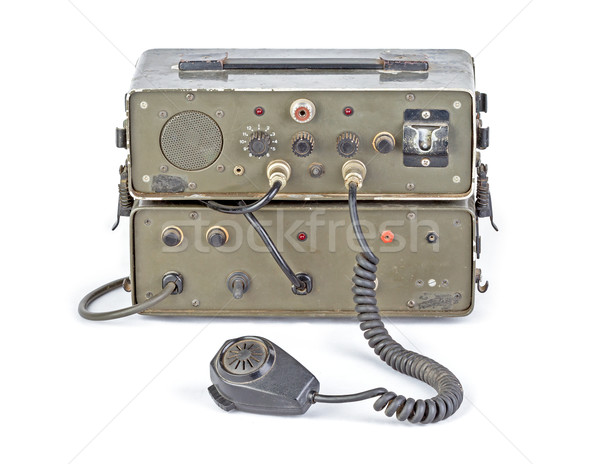 dark green amateur ham radio on white background Stock photo © supersaiyan3