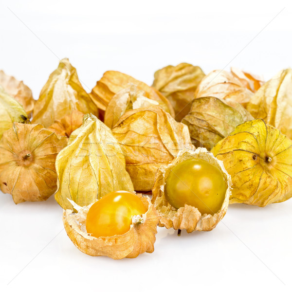 Stok fotoğraf: Beyaz · gıda · yaprak · yeşil · kış · domates