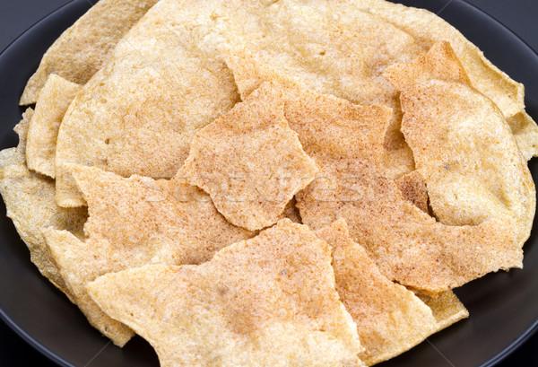Crispy sweet rice cracker - Northern Thailand traditional snack Stock photo © supersaiyan3