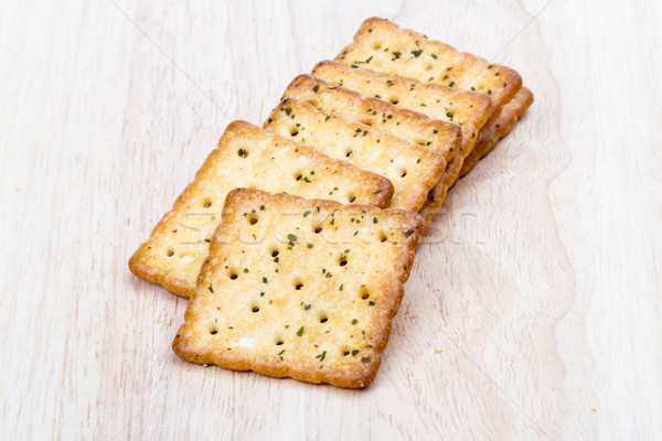Vegetable cracker on wooden background Stock photo © supersaiyan3
