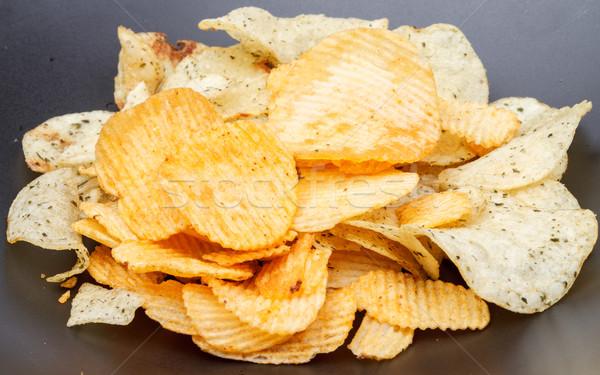 картофеля чипа черный блюдо пряный Сток-фото © supersaiyan3
