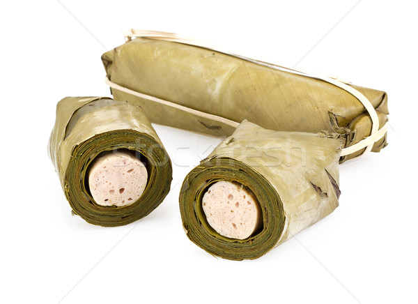Blanco cerdo salchicha tradicional comida tailandesa conservación Foto stock © supersaiyan3