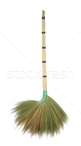Cabo de vassoura isolado branco casa limpar escove Foto stock © supersaiyan3