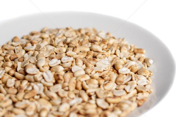 арахис пластина белый продовольствие Сток-фото © supersaiyan3