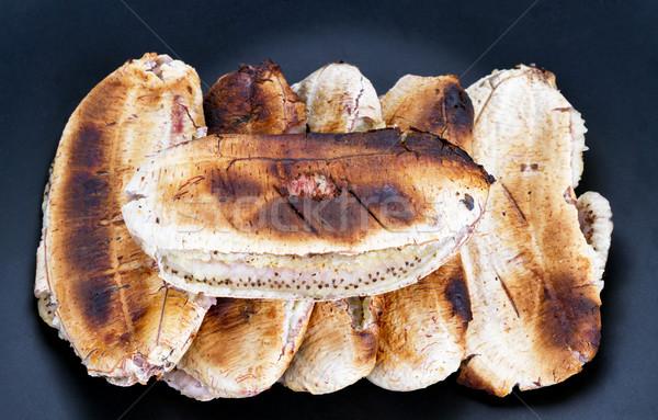 Banaan zwarte plaat gegrild dessert Stockfoto © supersaiyan3
