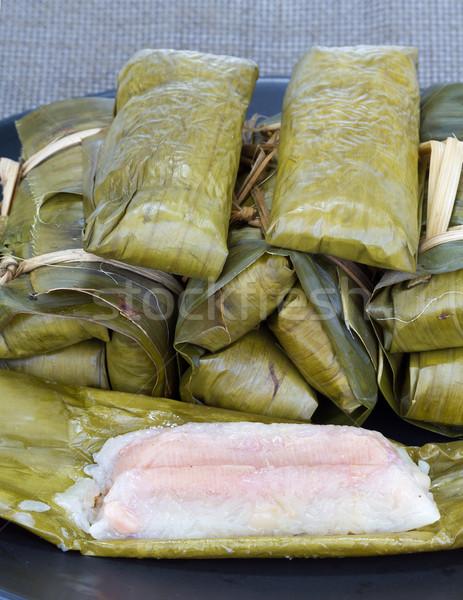 Rijst banaan gestoomd blad pinda thai Stockfoto © supersaiyan3