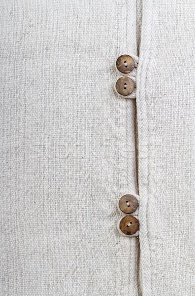 природного текстуры хлопка ткань кнопки Сток-фото © supersaiyan3