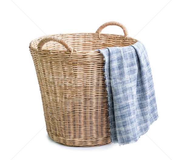 плетеный корзины ткань белый текстуры шаблон Сток-фото © supersaiyan3