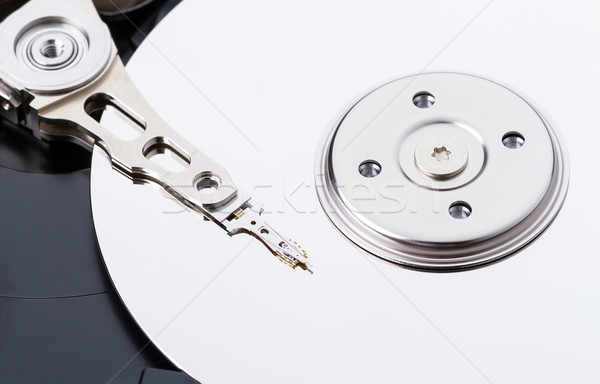 Harddisk drive (HDD) with top cover open closeup Stock photo © supersaiyan3