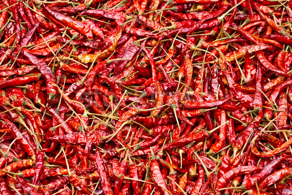Close up of sun-dried chilli, food ingredient Stock photo © supersaiyan3