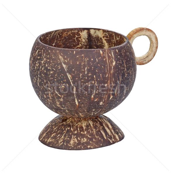 Beker kokosnoot shell geïsoleerd witte textuur Stockfoto © supersaiyan3