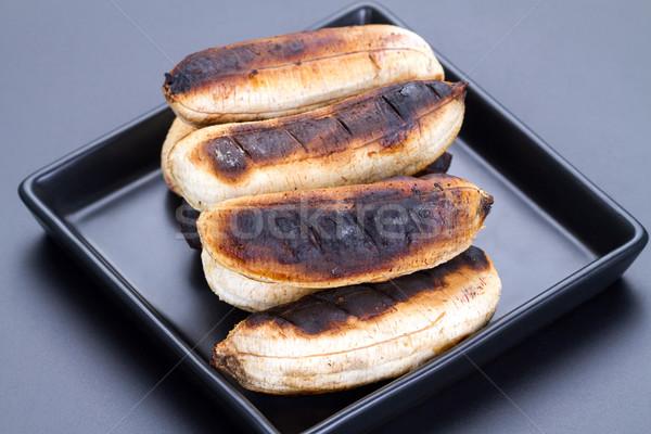 Thai dessert gegrild banaan zwarte Stockfoto © supersaiyan3