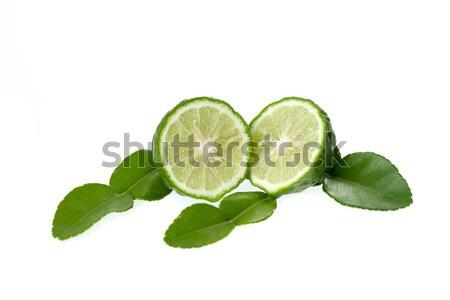 Citrus vág levél izolált fehér gyümölcs Stock fotó © supersaiyan3
