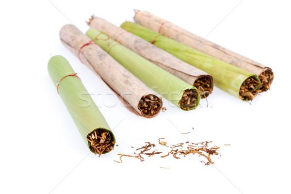 Cygara tytoń wykonany ręcznie suszy bananów liści Zdjęcia stock © supersaiyan3