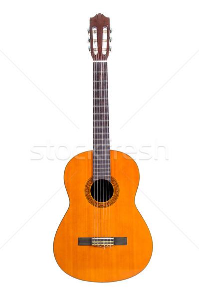 Klasyczny gitara odizolowany biały drewna żółty Zdjęcia stock © supersaiyan3