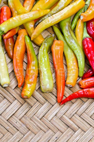 Geel Rood thai geit peper Stockfoto © supersaiyan3