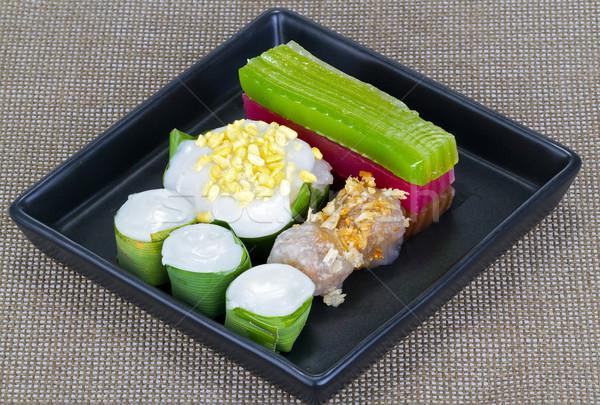 Gemengd thai desserts schotel Rood suiker Stockfoto © supersaiyan3