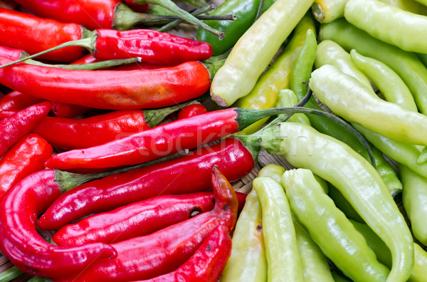 Piros zöld thai kecske bors köteg Stock fotó © supersaiyan3