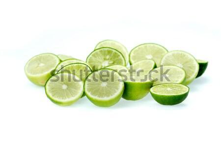 Gesneden voedsel vruchten tropische kalk macro Stockfoto © supersaiyan3