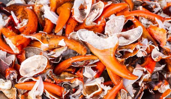 Gebarsten krab gekookt rijstveld voedsel Stockfoto © supersaiyan3
