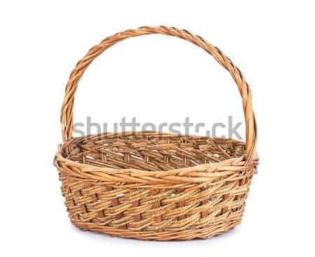 коричневый плетеный корзины белый ретро Vintage Сток-фото © supersaiyan3