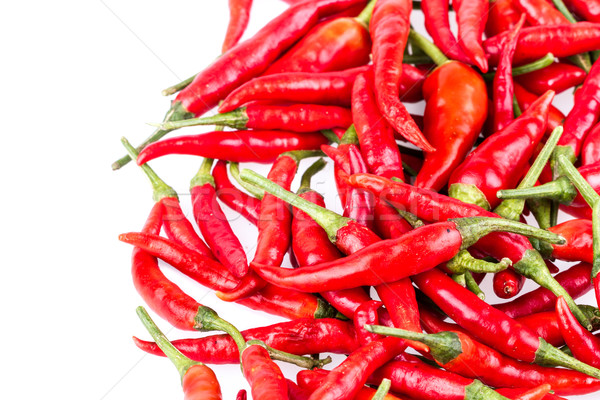 red Cayenne pepper on white Stock photo © supersaiyan3