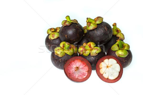 Cut Мангостин белый продовольствие природы фрукты Сток-фото © supersaiyan3