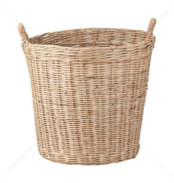 Wicker basket isolated on white background Stock photo © supersaiyan3