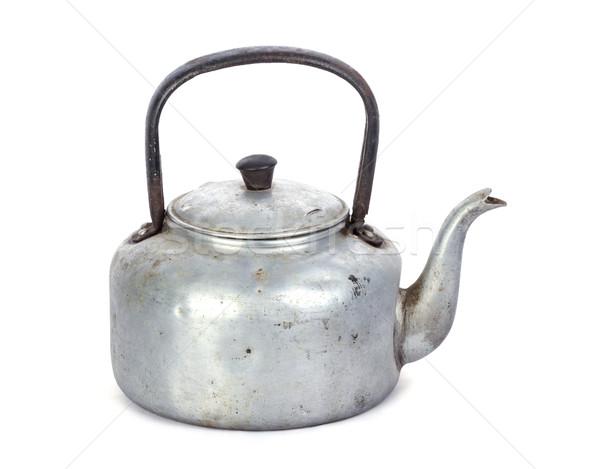 старые классический алюминий чайник белый грязные Сток-фото © supersaiyan3