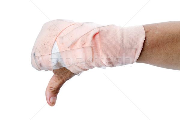 Hüvelykujj lefelé mutat kéz izolált fehér Stock fotó © supersaiyan3