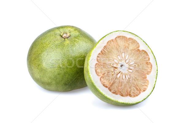 Pummelo (Citrus grandis) - half cut Stock photo © supersaiyan3