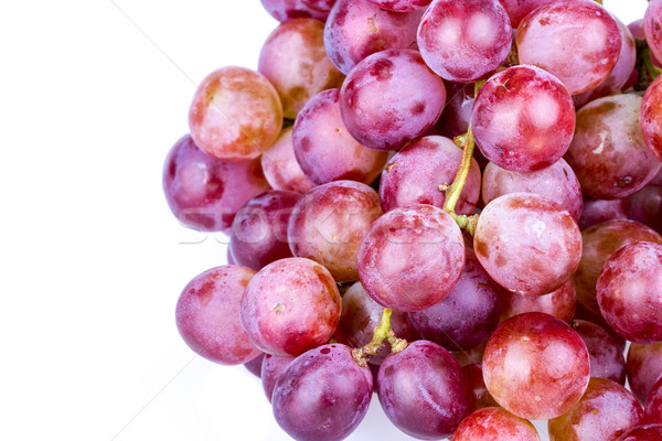 Bunch of red grape on white background Stock photo © supersaiyan3
