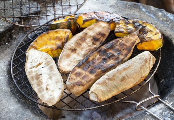 édes krumpli tökök grillezett tűzhely étel Stock fotó © supersaiyan3