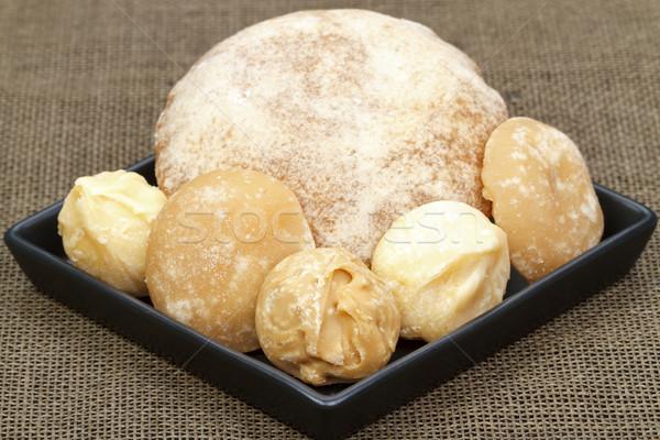 Różny wykonany ręcznie organiczny cukru cukier trzcinowy czarny Zdjęcia stock © supersaiyan3