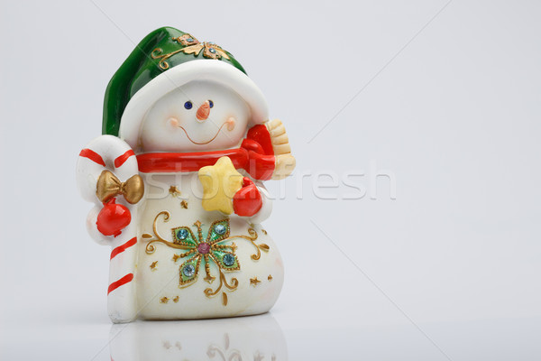 Cheerful snowman Stock photo © Supertrooper