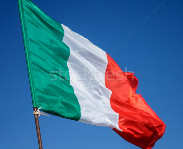 Pavillon Italie drapeau italien vent Photo stock © Supertrooper
