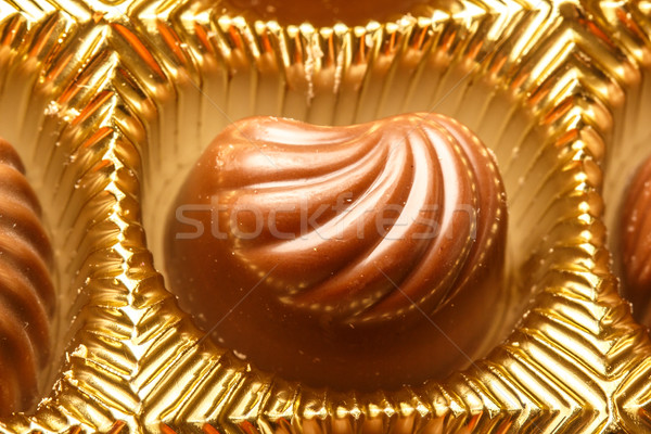 Közelkép választék csokoládé közelkép lövés doboz Stock fotó © Supertrooper