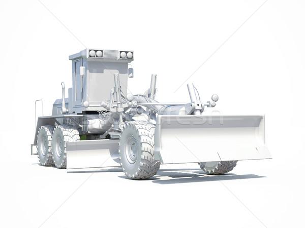 Stockfoto: 3D · witte · 3d · render · motor · wegenbouw · industriële